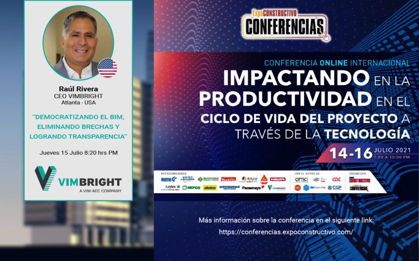 Raúl Rivera CEO de VIMBright expone en Seminario Internacional